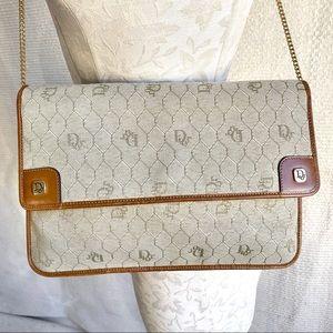 Dior Vintage Honeycomb Logo Print Crossbody Bag
